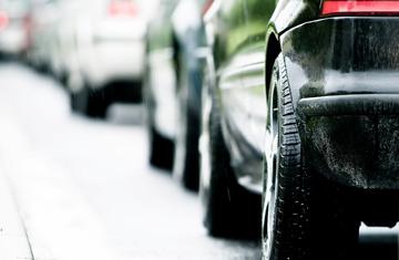 cars lined up at carwash