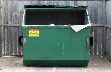 carwash dumpster