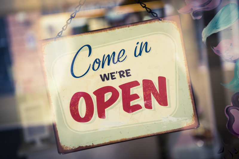 open sign, grand opening, new business, opening, launch, car care business opening