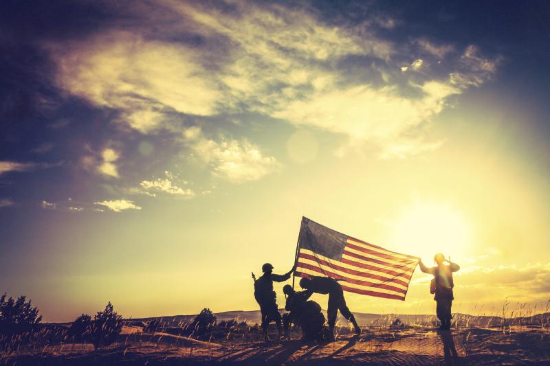 Military, American flag