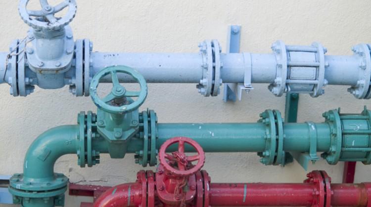 Water valve, pipe,