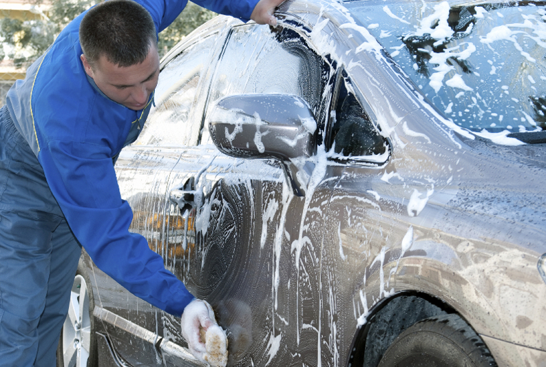 hand wash, hand carwash, carwash, washing, soap, sponge, clean, carwash worker,