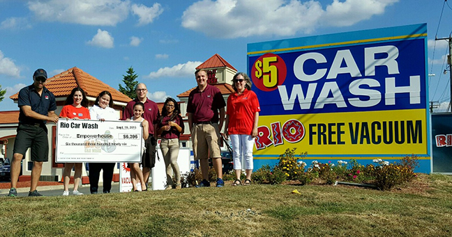 Rio Car Wash Charity Event raises $6,396.00 to benefit Empowerhouse.