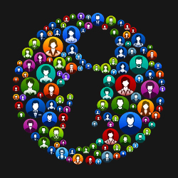 Info People Faces Community and Communication Pattern.