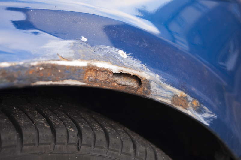 Car rust, rusty, dirty, poor maintenance