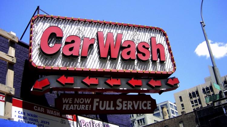 Signage, carwash, full-service, LED lighting