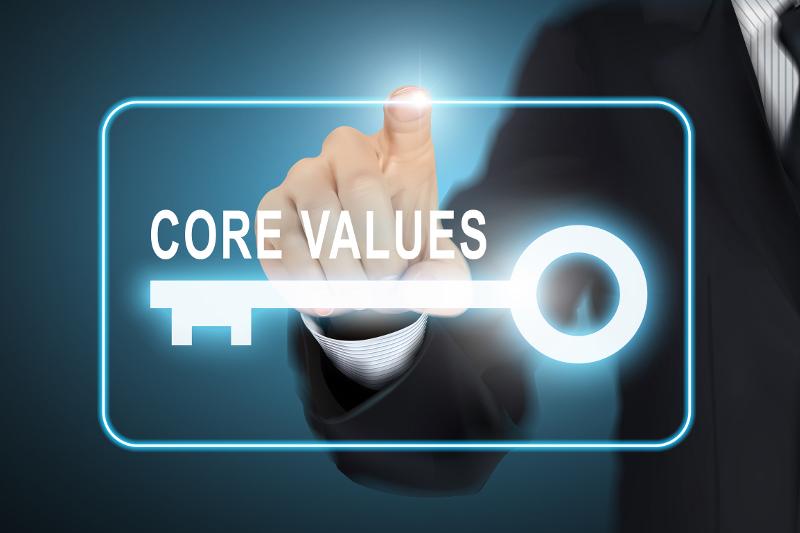 Core values, core concepts, key to success, business core, core success, values, business values, startups