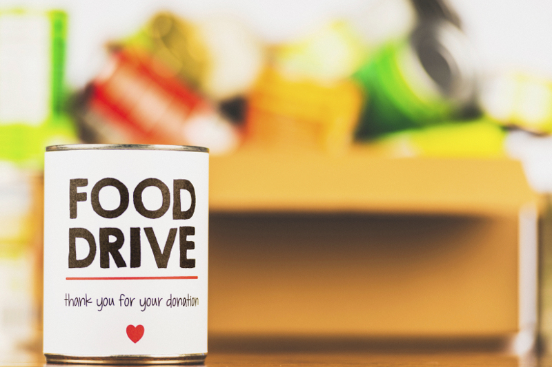 Food drive, charity, community outreach, food pantry, food bank, donation