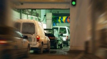 Carwash, tunnel, equipment, line, line of cars, traffic, conveyor, carwash traffic