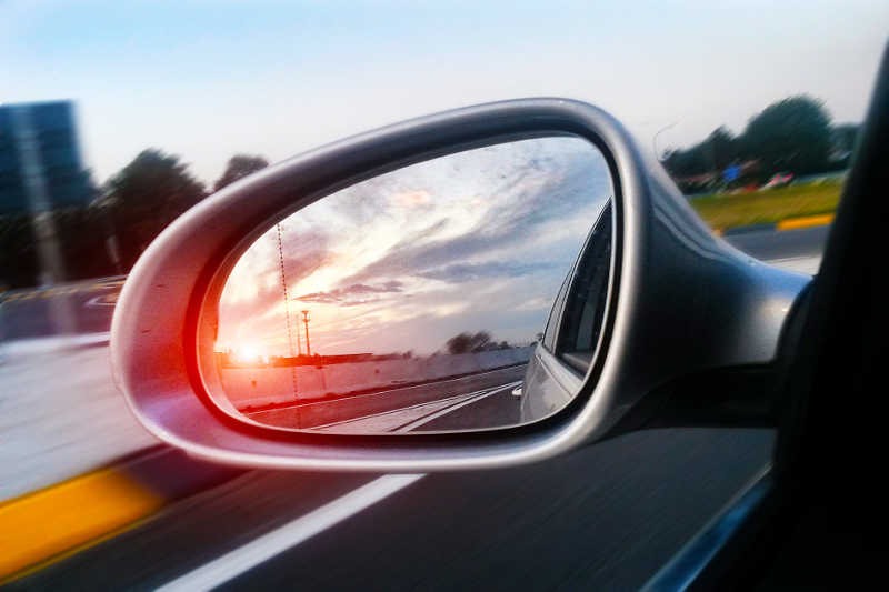 sideview mirror, car mirror, road, past, traveling, motion, car, driver, driving