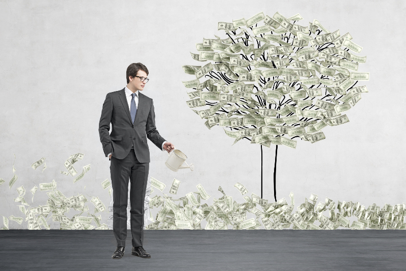 Money growth, profit, startup, growth, success, money on tree, weath, revenue