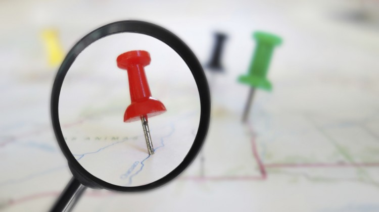 Site selection, location, map, pin point, choosing a location,