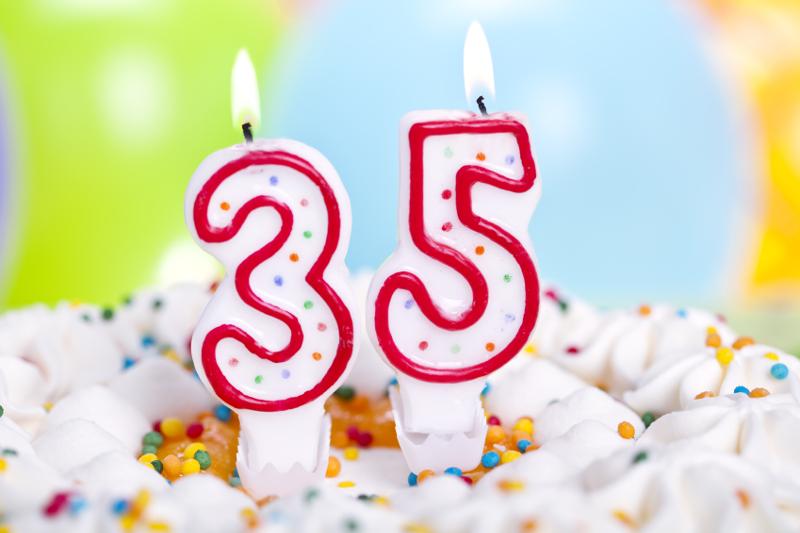 35, 35 years, 35 anniversary, 35th birthday, 35th