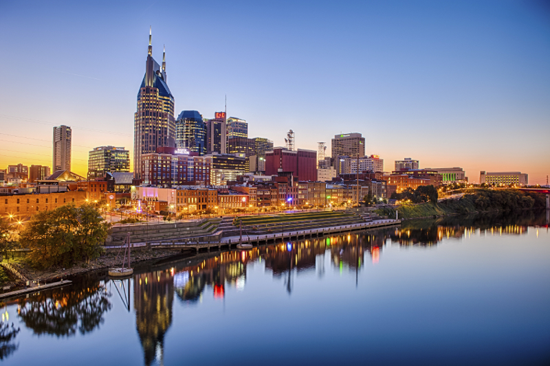 City skyline, Nashville, Tenessee