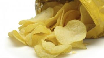Potato chips, potato chip bag