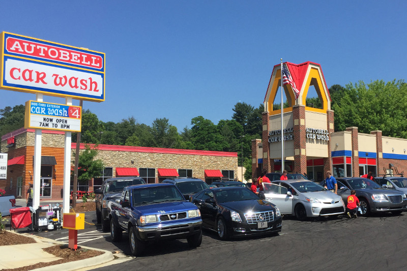 Autobell Car Wash Inc.; Autobell's new Asheville location