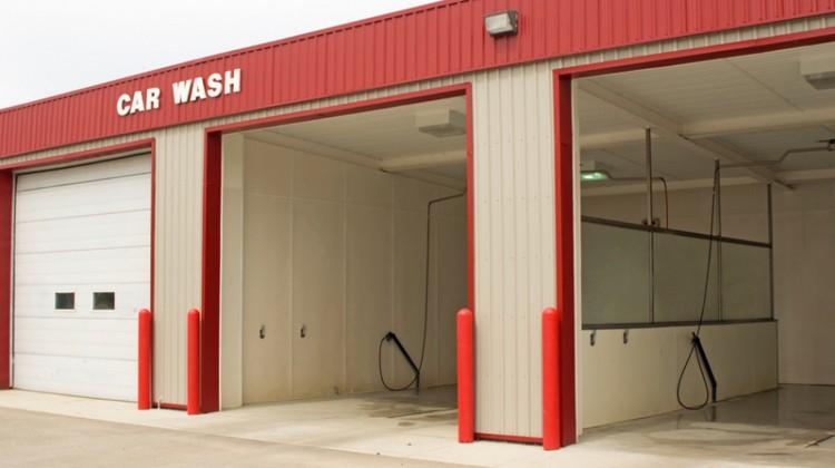 Carwash door, car wash, self-serve, self-service, car wash, cleaning, washing, exterior