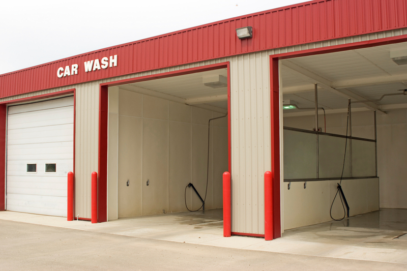 Carwash door, car wash, self-serve, self-service, car wash, cleaning, washing, exterior