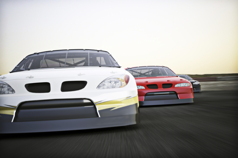 race car, race track,