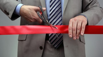 Grand opening, business, ribbon, ribbon cutting, ceremony, celebrate, open.