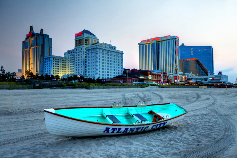 Atlantic City, beach, casinos, New Jersey, hotels, boat, ocean, Atlantic ocean.