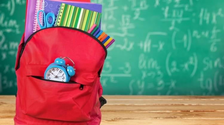 Back to school, school, school supplies, backpack, students, classroom.