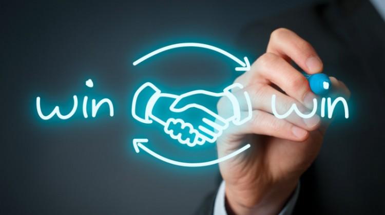 Handshake, writing, win, winning, partnership, teamwork, winning customers, success.