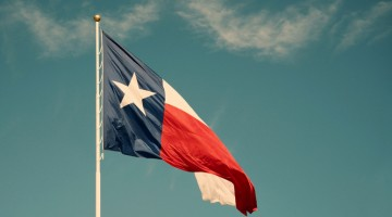 Texas, flag, south, waving, flagpole, Texas state flag, cloud, sky, day.