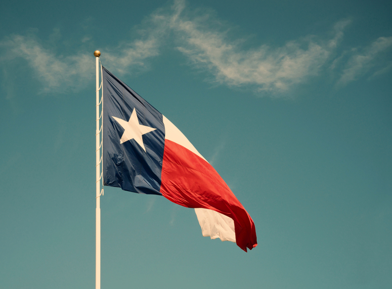 Texas, flag, south, waving, flagpole, Texas state flag, cloud, sky, day.