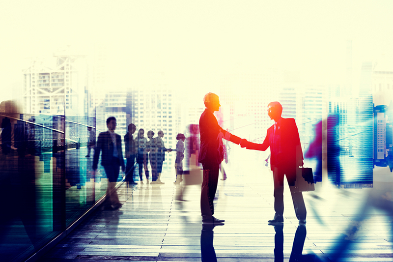 business, personal marketing, marketing, business men, shaking hands, city, street, meeting
