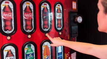 vending machine, vending, woman, coke, pop, soda, customer, carwash vending