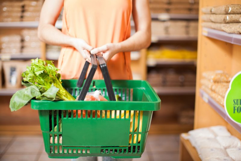 groceries, shelves, woman, food, produce, convenience store, grocery store