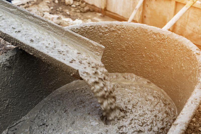 cement, wet cement, concrete, construction, wheelbarrow, gravel