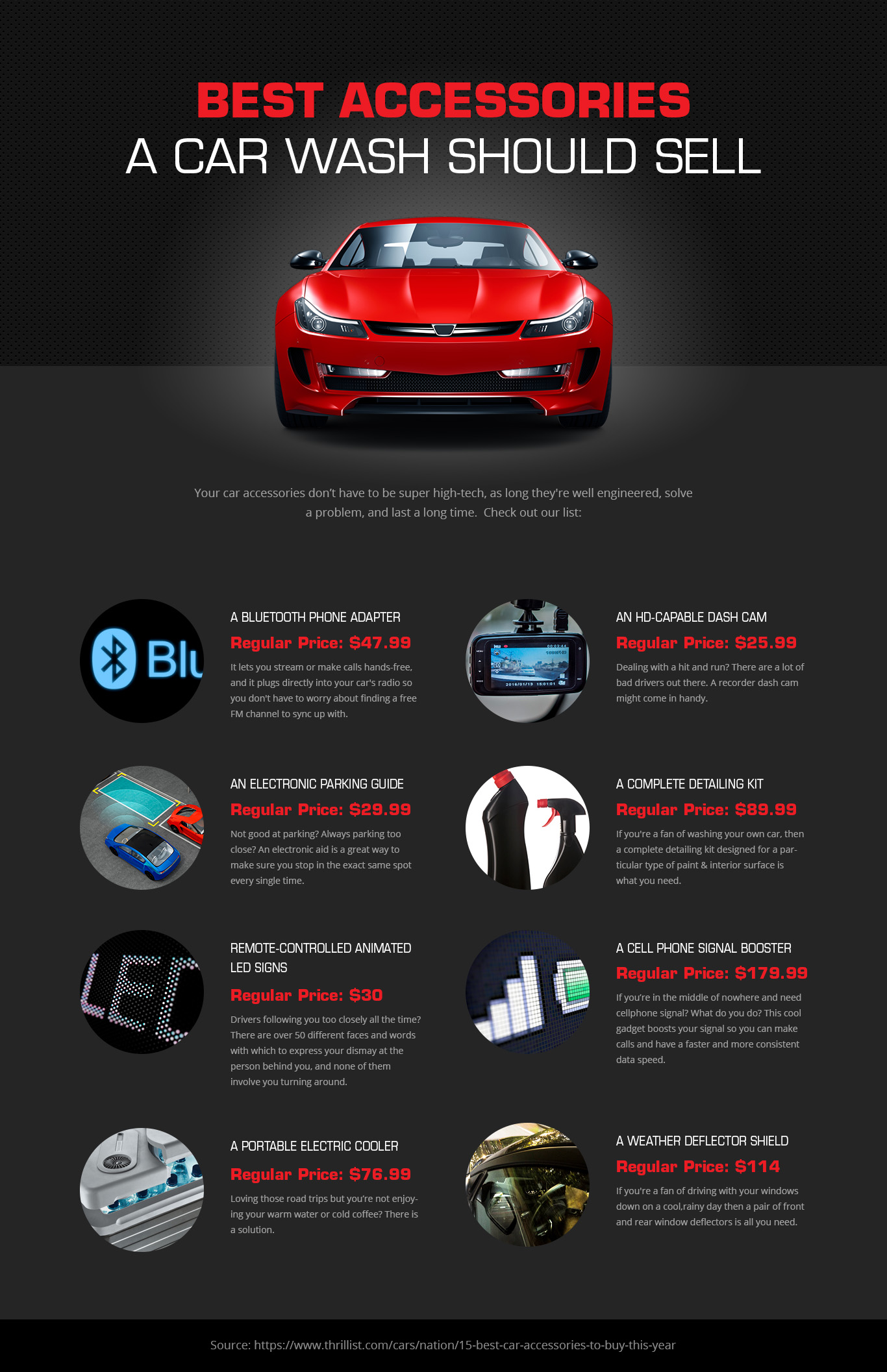 Infographic Best Car Accessories A Carwash Should Sell