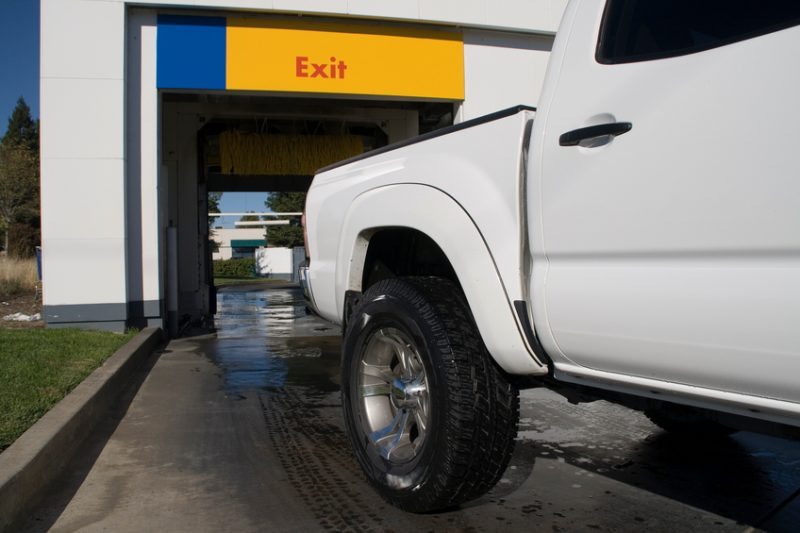 pickup truck, truck, carwash, driving,