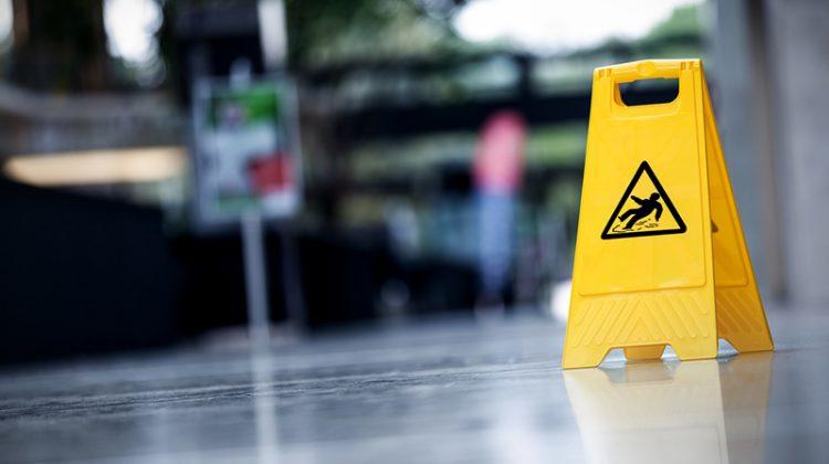 warning sign, slippery, caution sign, slip, fall, wet floor, wet floor sign