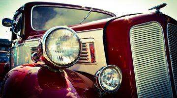 antique car, classic car, automobile, red