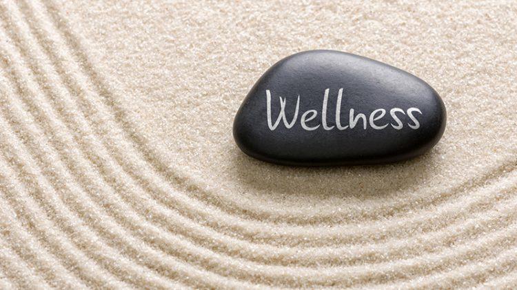 wellness, employee wellness, zen garden, sand, stone, mental health,