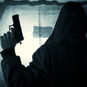stranger, armed stranger, gun, silhouette, man, crime