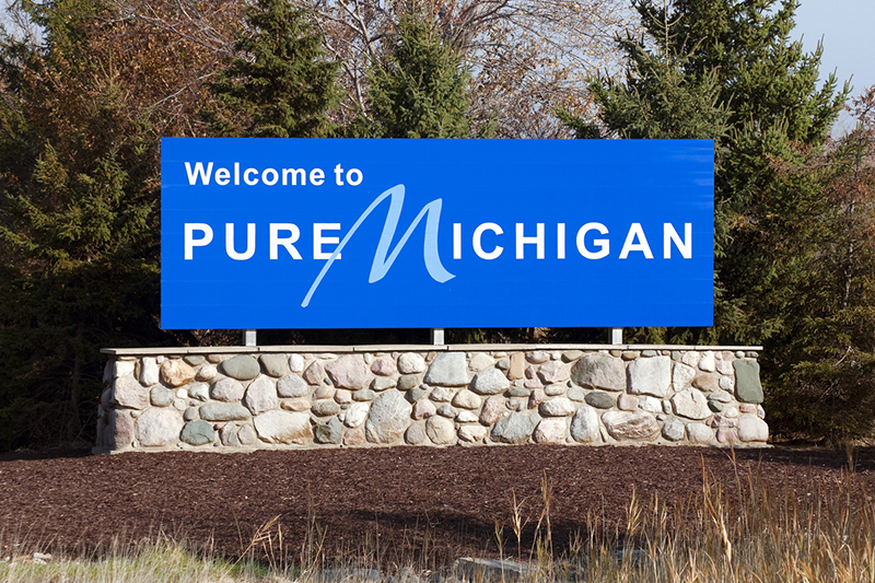 Michigan, Grand Rapids, welcome sign