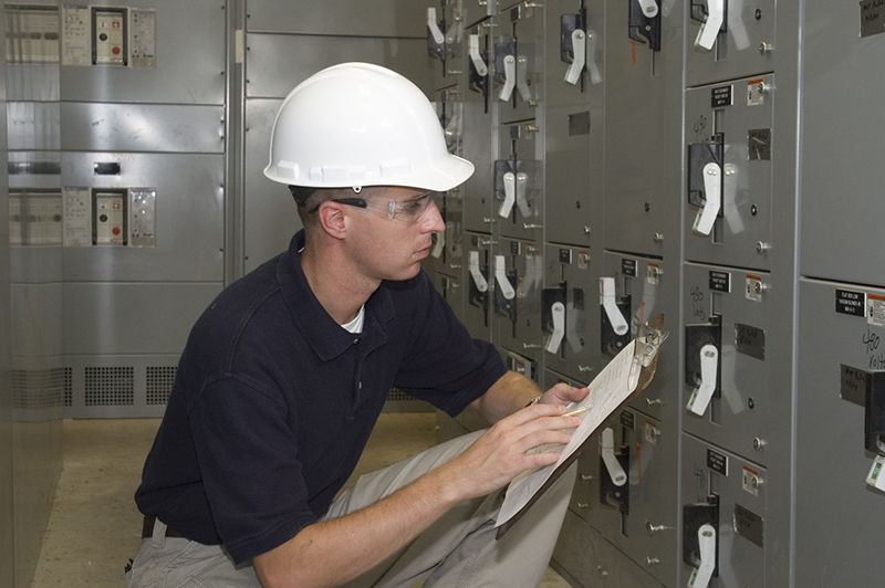 OSHA inspections, inspector, electrical, clipboard