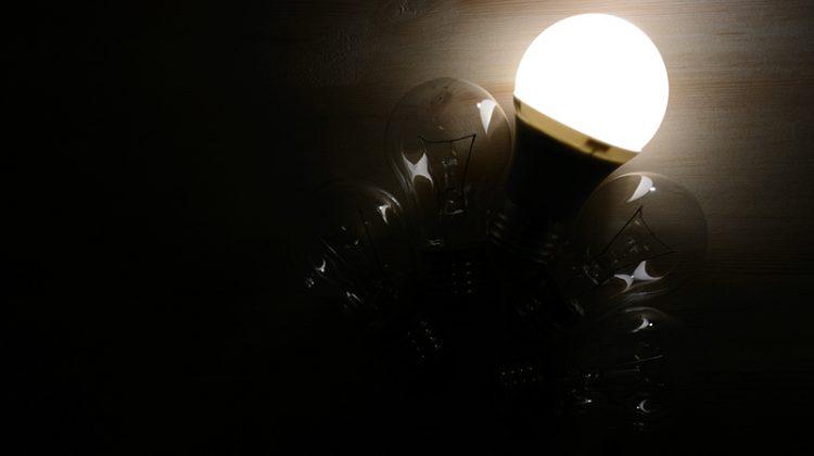 LED, LED lighting, incandescent bulb, darkness, light
