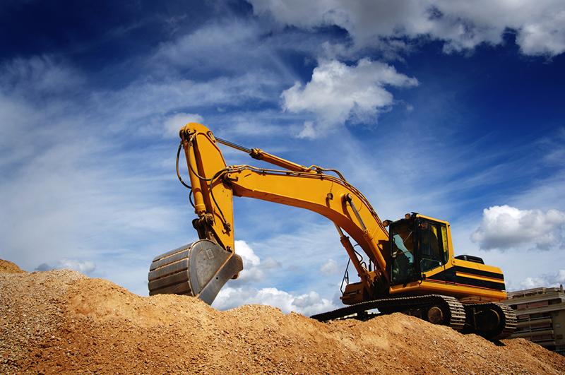 bulldozer, trackhoe, excavation, excavator, construction equipment