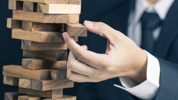 risk, hand, tower, Jenga, building