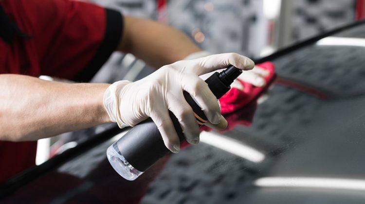 windshield, microfiber towel, cleaner, spray, glass