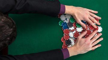 businessman, poker, chips, gambling, winning