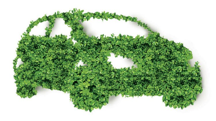 green, leaves, car, environmental car