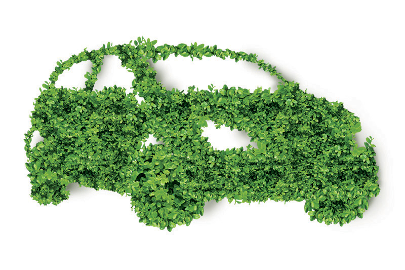 green, leaves, car, environmental car