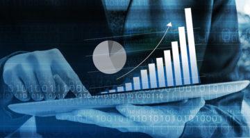 binary code, tablet, charts, increase, data, digital