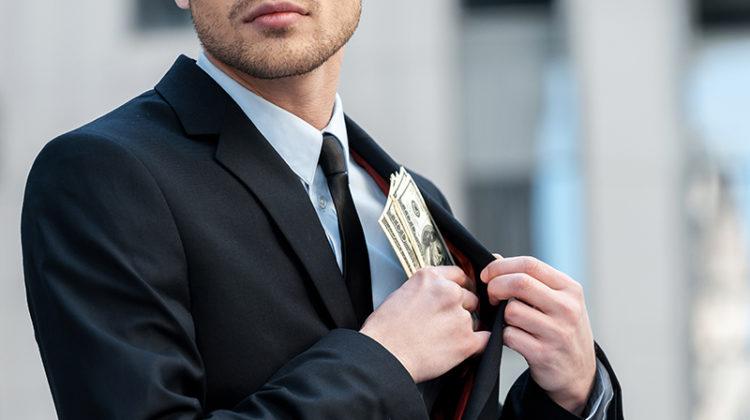 embezzlement, embezzled, money, businessman